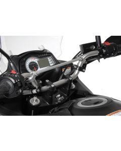 Handlebar extension, 30 mm, Type 3, black, for Suzuki DL 650/V-Strom 650/DL1000, KTM LC4