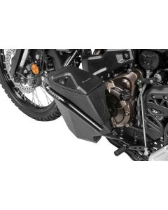 Toolbox with engine crash bar - retrofit kit - left side, stainless steel, black for Yamaha Tenere 700