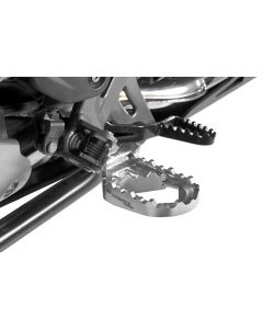 *Works* long-distance foot pegs, low for BMW R1250GS/ R1250GS Adventure/ R1200GS from 2013/ R1200GS Adventure from 2014/ F850GS/ F850GS Adventure/ F750GS